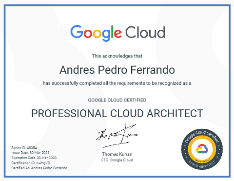 Google cloud architect certification